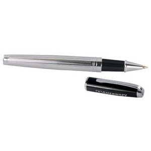 Ilegant™ Chrome & Black Screw Off Cap Rollerball Pen