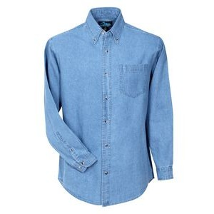 Men's Trekker Heavyweight Cotton Denim Long Sleeve Shirt