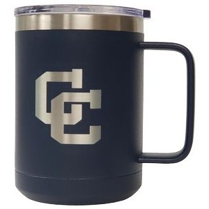 15 oz Stainless Steel Mug, Navy Blue