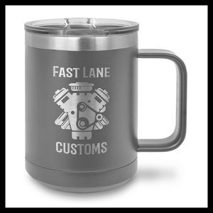 15 oz Stainless Steel Mug, Dark Gray