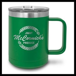 15 oz Stainless Steel Mug, Green