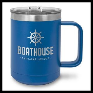 15 oz Stainless Steel Mug, Royal Blue