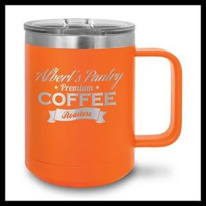 15 oz Stainless Steel Mug, Orange