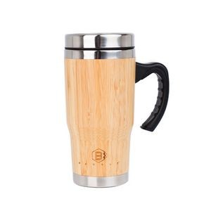 16oz Bamboo Tumbler Mug w/Handle