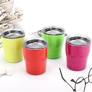 Double Wall Stainless Steel 8oz Kids Milk Tumbler