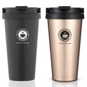 17 OZ Double Wall Stainless Steel Coffee Cup with Grip