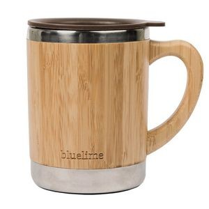10 OZ Bamboo Sheel Stainless Steel Travel Cup