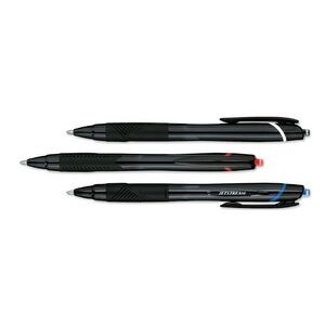 Uni Ball JetStream Sport Retractable Rollerball Pen w/ Textured Grip WITBLACK,BLUE,REDINK