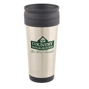 16 Oz. Stainless Steel Custom Printed Travel Mug