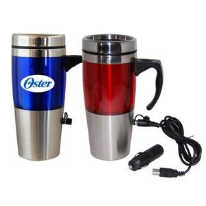 16 Oz. Dual Auto/USB Heated Travel Mug