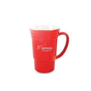 The Glazed Ceramic Mug - 17oz Red