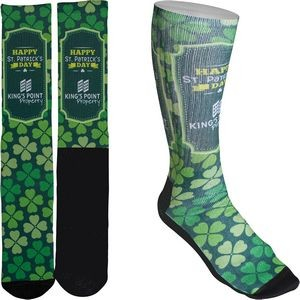 Men's Full Color Crew Promo Socks with Black Bottom