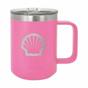 Pink Polar Camel 15oz. Stainless Steel Coffee Mug
