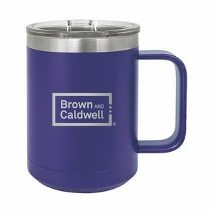 Purple Polar Camel 15oz. Stainless Steel Coffee Mug
