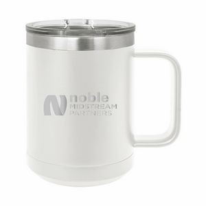 White Polar Camel 15oz. Stainless Steel Coffee Mug