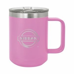 Light Purple Polar Camel 15oz. Stainless Steel Coffee Mug