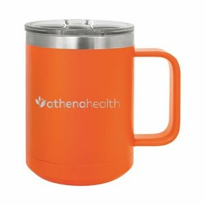 Orange Polar Camel 15oz. Stainless Steel Coffee Mug