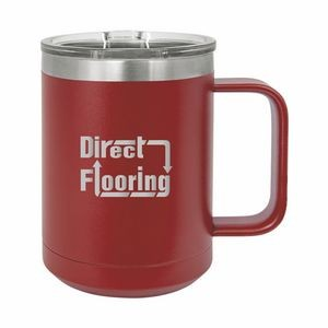 Maroon Polar Camel 15oz. Stainless Steel Coffee Mug