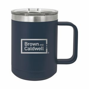 Navy Blue Polar Camel 15oz. Stainless Steel Coffee Mug
