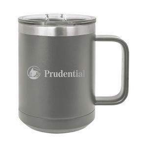 Gray Polar Camel 15oz. Stainless Steel Coffee Mug