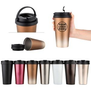 304 Stainless Steel Thermos Vacuum Coffee Cup with Handle