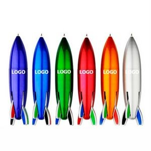 4 In 1 Small Rocket Shape Ballpoint Pen