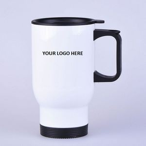13 Oz. White Stainless Steel Mug Plain